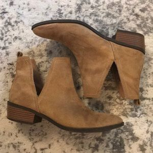 Charlotte Russe Faux Suede Tan Booties